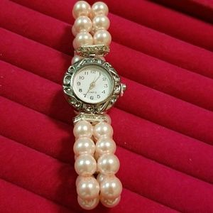 Accessories - Fashion Watch, Faux Pearls bracelet watch, New